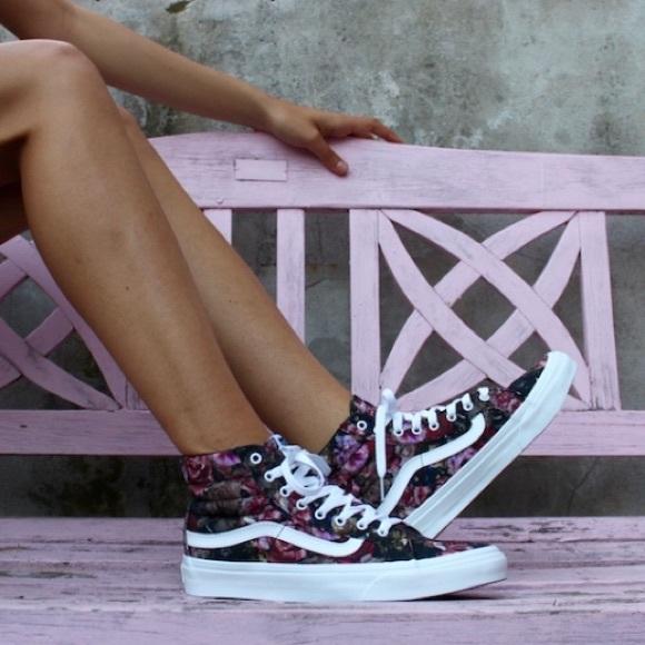 "c19030b74fd Vans ""Moody Floral"" SK8-HI Slim Sneakers. M 5bfb38fdbaebf6c25e9aa719"